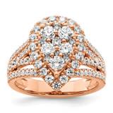 Si1/Si2, G H I, Cluster Ring 14k Gold Lab Grown Diamond MPN: RM8806E-185-RLG UPC: