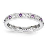 Amethyst Ring - Sterling Silver QSK1483 UPC: 886774204420