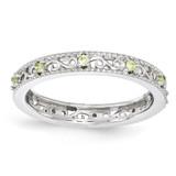 Peridot Ring - Sterling Silver QSK1489 UPC: 886774204789