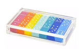 Tizo Acrylic Lucite Domino Set Multi Color, MPN: HA115MCDM
