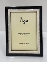 Tizo Luxury Wood & Mother of Pearl Photo Picture Frame Black 5 x 7 Inch, MPN: ST20BLK-57