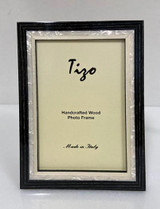 Tizo Luxury Wood & Mother of Pearl Inlay Photo Picture Frame Black 8 x 10 Inch, MPN: ST20BLK-80