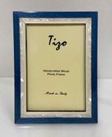 Tizo Luxury Wood & Mother of Pearl Inlay Photo Picture Frame Blue 5 x 7 Inch, MPN: ST20BLU-57