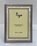 Tizo Luxury Wood & Mother of Pearl Inlay Photo Picture Frame Gray 4 x 6 Inch, MPN: ST20GRY-46