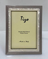 Tizo Luxury Wood & Mother of Pearl Inlay Photo Picture Frame Gray 5 x 7 Inch, MPN: ST20GRY-57
