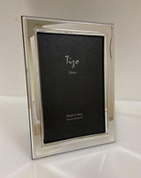 Tizo Silver-plated Arty Beaded Photo Picture Frame 4 x 6 Inch, MPN: 7203-46