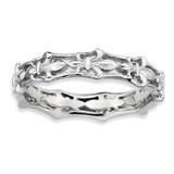 Fleur De Lis Ring - Sterling Silver Polished QSK544 UPC: 886774010120
