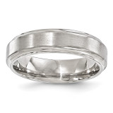 Edward Mirell Titanium Brushed & Polished Beveled 6mm Band EMR142