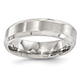 Edward Mirell Titanium Brushed & Polished Beveled 6mm Band EMR143