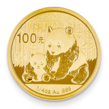 24k Gold 1/4oz Panda Coin 1/4P