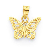 Butterfly Charm 10k Gold 10C1004