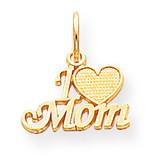 Mom Charm 10k Gold 10C101