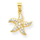 Starfish Charm 10K Gold & Rhodium 10C1018