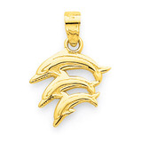 Dolphin Charm 10k Gold 10C1023