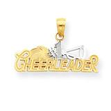 #1 Cheerleader Charm 10K Gold & Rhodium 10C1030