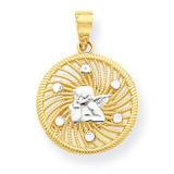 Angel Charm 10K Gold & Rhodium 10C1039