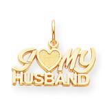 I Love My Husband Charm 10k Gold 10C104
