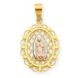 Our Lady of Guadalupe Pendant 10k Two-Tone Gold 10C1045