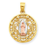 Our Lady of Guadalupe Pendant 10k Two-Tone Gold 10C1046