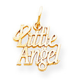 Little Angel with Halo Charm 10k Gold 10C108