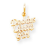 Daddys Little Girl Charm 10k Gold 10C109