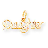 Daughter Charm 10k Gold 10C111
