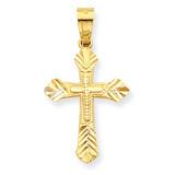 Budded Cross Pendant 10k Gold 10C1121