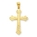Budded Cross Pendant 10k Gold 10C1131