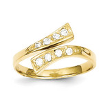 Toe Ring 10k Gold Synthetic Diamond 10C1162