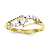 Ring 10k Gold Synthetic Diamond 10C1166
