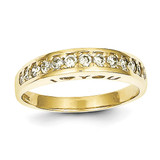 I Love You Forever Synthetic Diamond Ring 10k Gold 10C1168