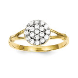 Cluster Ring 10k Gold Synthetic Diamond 10C1172