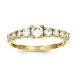 Ring 10k Gold Synthetic Diamond 10C1177
