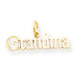 Grandma Charm 10k Gold 10C118