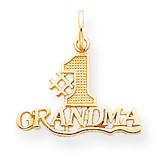 #1 Grandma Charm 10k Gold 10C119