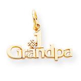 #1 Grandpa Charm 10k Gold 10C120