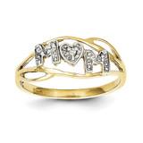Mom Ring 10K Gold & Rhodium 10C1221