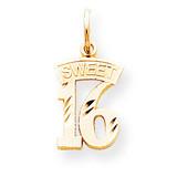 Sweet 16 Charm 10k Gold 10C125