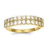 Fancy Synthetic Diamond Ring 10k Gold 10C1252