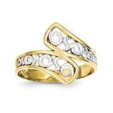 Filigree Ring 10K Gold & Rhodium 10C1262