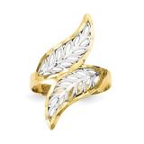 Diamond-Cut Filigree Ring 10K Gold & Rhodium 10C1263