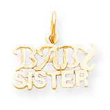 Baby Sister Charm 10k Gold 10C128