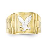 Men's Eagle Ring 10K Gold & Rhodium 10C1295