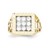 Men's Synthetic Diamond Ring 10k Gold 10C1302