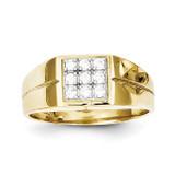 Men's Synthetic Diamond Ring 10k Gold 10C1307
