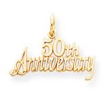 50th Anniversary Charm 10k Gold 10C134
