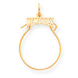 Memories Charm Holder 10k Gold 10C135
