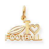 Football Charm 10k Gold 10C149