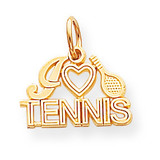 Tennis Charm 10k Gold 10C150