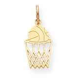 BASKETBALL CHARM 10k Gold 10C182